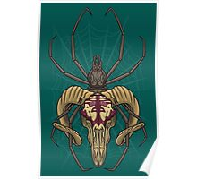 Spider Skull Poster