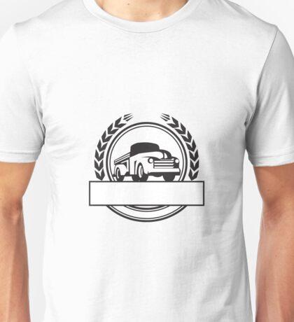 Vintage Pick Up Truck Black and White Retro Unisex T-Shirt