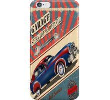 Vintage Garage Logo iPhone Case/Skin