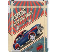 Vintage Garage Logo iPad Case/Skin