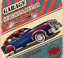 Vintage Garage Logo by rcurtiss000