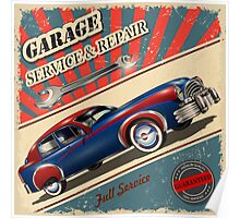 Vintage Garage Logo Poster