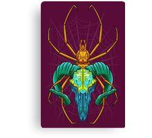 Bright Spider Skull Canvas Print