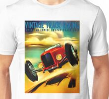 """TRACK RACING GRAND PRIX"" Vintage Auto Print Unisex T-Shirt"