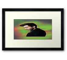 "David Tennant ""hippie"" background Framed Print"