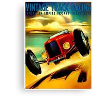 """TRACK RACING GRAND PRIX"" Vintage Auto Print Canvas Print"