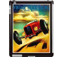 """TRACK RACING GRAND PRIX"" Vintage Auto Print iPad Case/Skin"