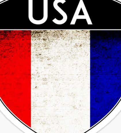 USA FLAG UNTIED STATES OF AMERICA BADGE EMBLEM CREST Sticker