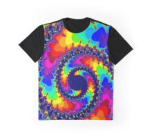 Acid Trip Rainbow Spiral Graphic T-Shirt