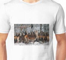 Deer in winter Unisex T-Shirt