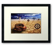 left to get wet by the desert Framed Print