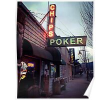 Chips and Poker Poster