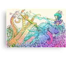 NARWHAL VS GIANT SQUID Canvas Print