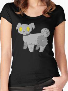 Pug Robot Women's Fitted Scoop T-Shirt