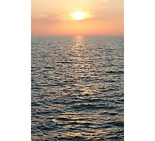 Sunset over Adriatic Sea Vertical Photographic Print