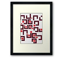 Modernist Vinyl Addict Framed Print