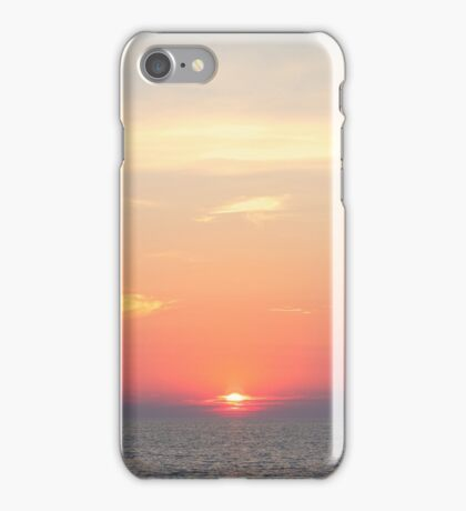 Sunset over Adriatic Sea iPhone Case/Skin