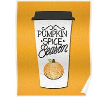 Pumpkin Spice Season Poster