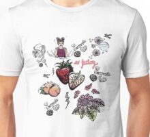 super cute patterns - sweet + brave + berry juicy Unisex T-Shirt