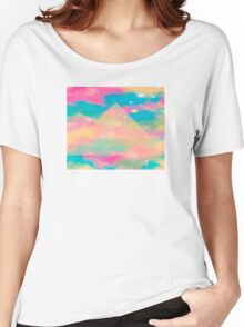 Psychedelic Tie Dye Pyramid Heaven Women's Relaxed Fit T-Shirt