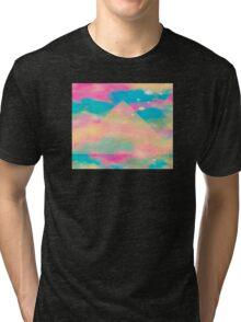 Psychedelic Tie Dye Pyramid Heaven Tri-blend T-Shirt