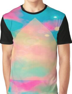 Psychedelic Tie Dye Pyramid Heaven Graphic T-Shirt