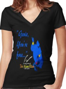 You're Free Women's Fitted V-Neck T-Shirt
