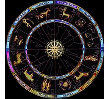 The Zodiac Chart - custom colours by request Photographic Print