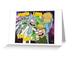 Rick and Morty Dab Design  Greeting Card