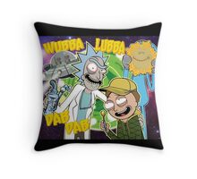 Rick and Morty Dab Design  Throw Pillow