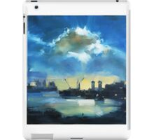 Cloud over Docklands ~ oil painting iPad Case/Skin