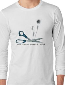 Wireless Apple Airpods: Just Saved Myself $159 Long Sleeve T-Shirt