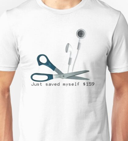 Wireless Apple Airpods: Just Saved Myself $159 Unisex T-Shirt