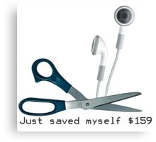 Wireless Apple Airpods: Just Saved Myself $159 Canvas Print