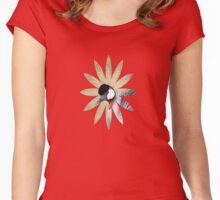 Endangered East African Crowned Crane Design  Women's Fitted Scoop T-Shirt