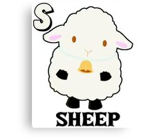 S is for Sheep Canvas Print