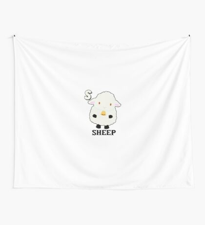 S is for Sheep Wall Tapestry