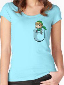 Pocket Link Hero of Time Zelda Women's Fitted Scoop T-Shirt