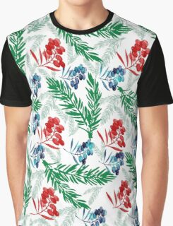 Branches and Berries Pattern,  #redbubble, #abstract, #pattern, #floral Graphic T-Shirt