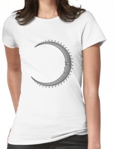 Moon: Grey Womens Fitted T-Shirt