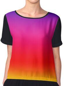 Bright Colorful Neon Gradient Chiffon Top