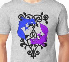Satanic Leaftail Gecko on Scrollwork Unisex T-Shirt
