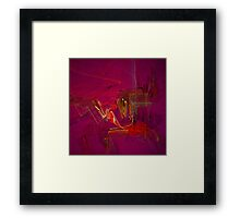 Glitzy Graffiti Framed Print