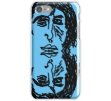 All Down The Line, Double Blue Narcissus iPhone Case/Skin