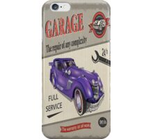 Vintage Garage Logo 2 iPhone Case/Skin