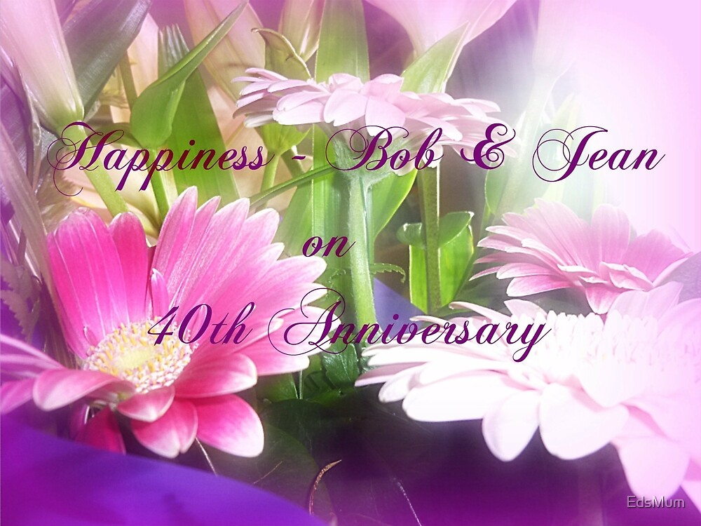 Anniversary Greetings Card  by EdsMum