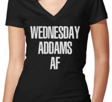 Wednesday Addams AF Women's Fitted V-Neck T-Shirt