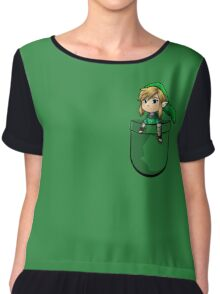 Pocket Link Hero of Time Zelda Chiffon Top