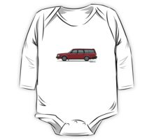 Volvo 245 Brick Wagon 200 Series Red One Piece - Long Sleeve