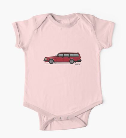 Volvo 245 Brick Wagon 200 Series Red One Piece - Short Sleeve
